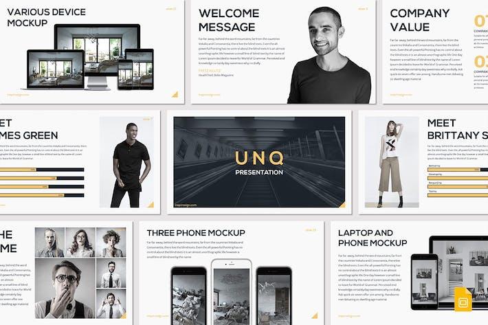 Thumbnail for UNQ - Google Slides Template