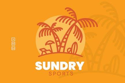Summer Sun Badge Logo