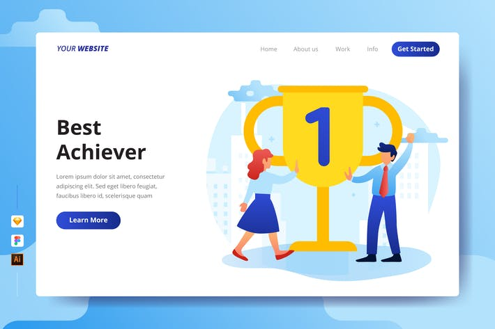 Thumbnail for Best Achiever - Landing Page