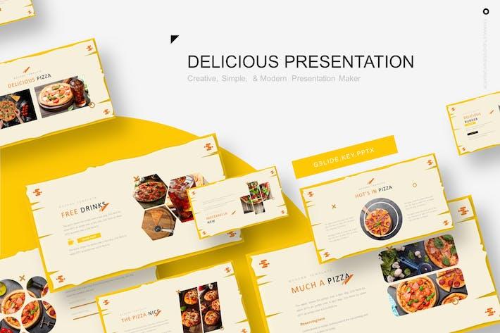 Delicious Pizza Presentation Template