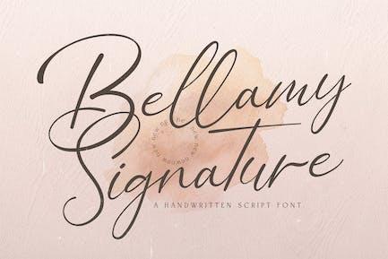 Bellamy Signature - Handwritten Font