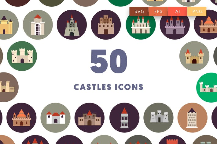 Thumbnail for 50 Castle Icons
