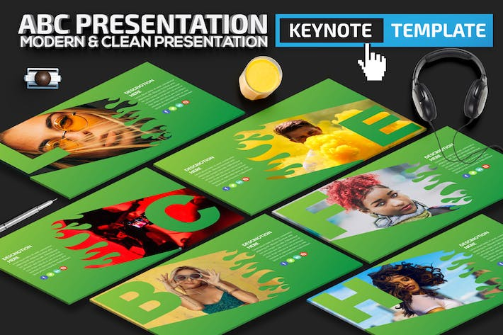 Thumbnail for ABC Alphabet Keynote Presentation Template