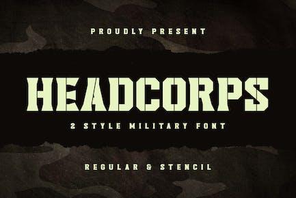 Headcorps - Military Serif Font