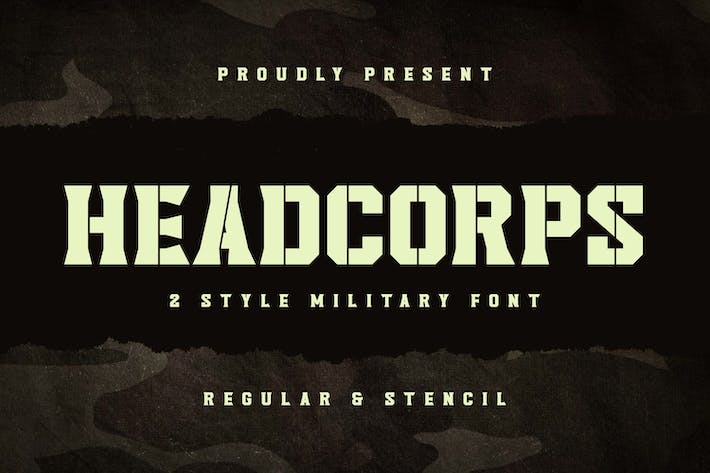 Thumbnail for Headcorps - Military Serif Font