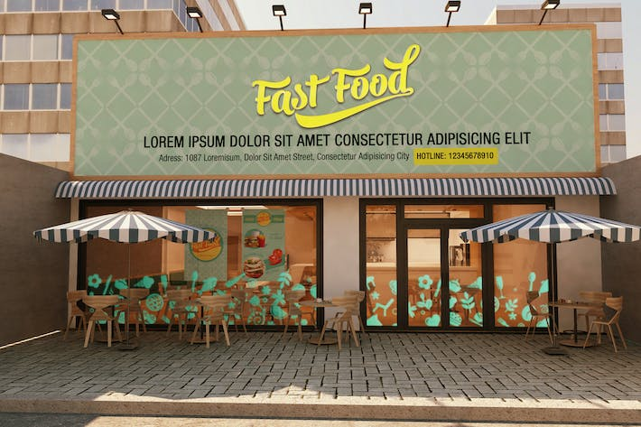 Thumbnail for The Mockup Branding For Fast Food Outlets