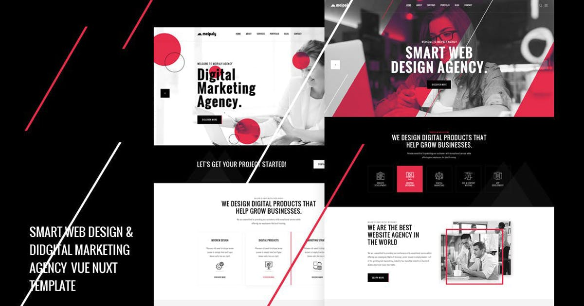 Download Meipaly - Vue Nuxt Digital Service Agency Template by Layerdrops