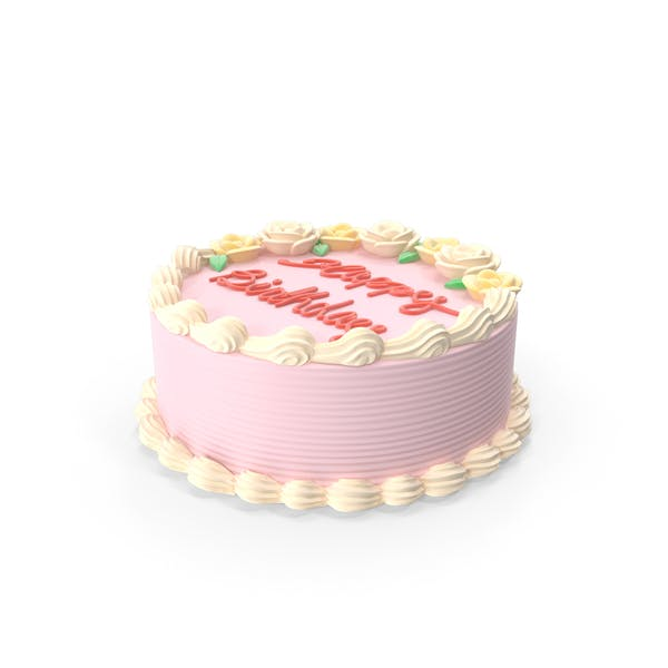 Thumbnail for Happy Birthday Cake Pink