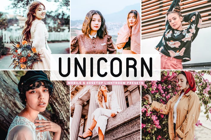 Thumbnail for Unicorn Mobile & Desktop Lightroom Presets