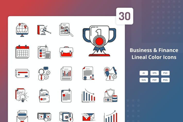 Thumbnail for Business and Finance - Lineal Color Icons