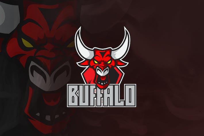 Thumbnail for Buffalo Bull -  Animal Mascot & Esport Logo V.4