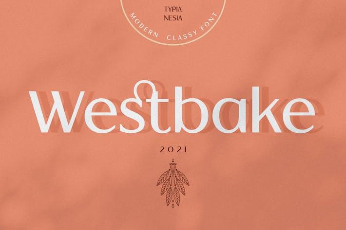 Westbake - Elegante Fancy Sans Con serifa