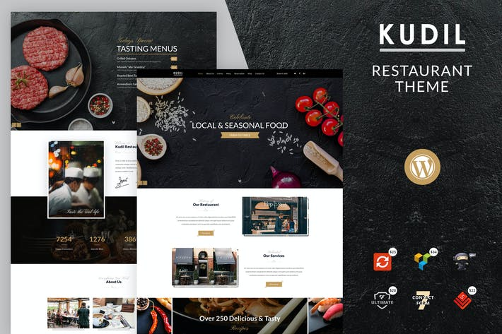Thumbnail for Kudil | Cafe, Food Restaurant WordPress Theme