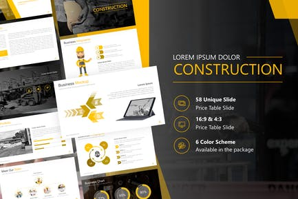 Construction Presentation Powerpoint Template