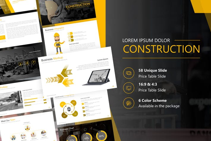 Thumbnail for Construction Presentation Powerpoint Template