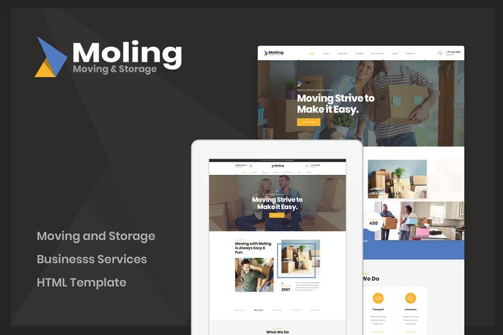 Thumbnail for Moling - Moving and Storage Services HTML Template