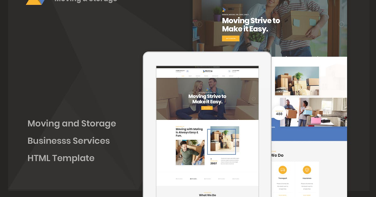 Download Moling - Moving and Storage Services HTML Template by dan_fisher