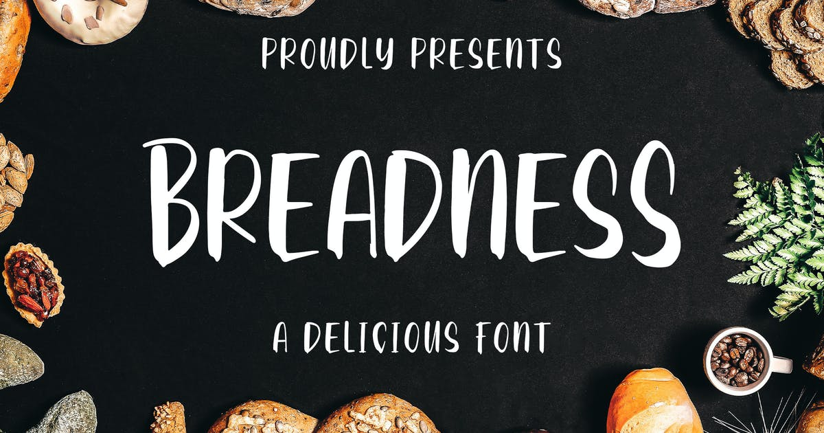 Download Breadness - a Delicious Font by Blankids