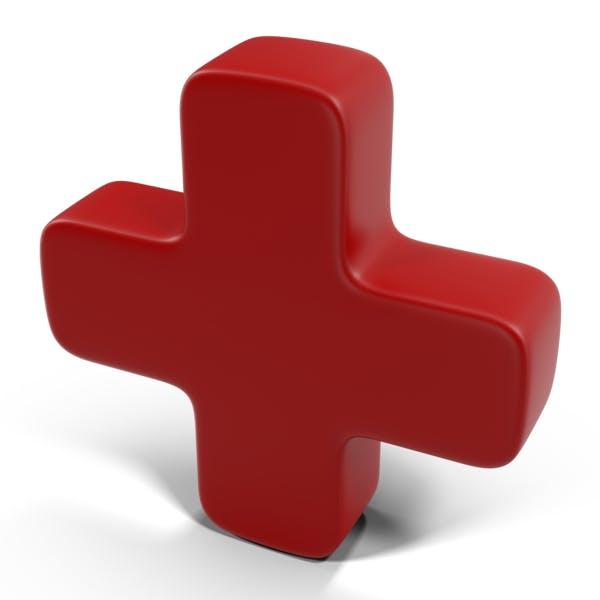 Красный закругленный знак плюс