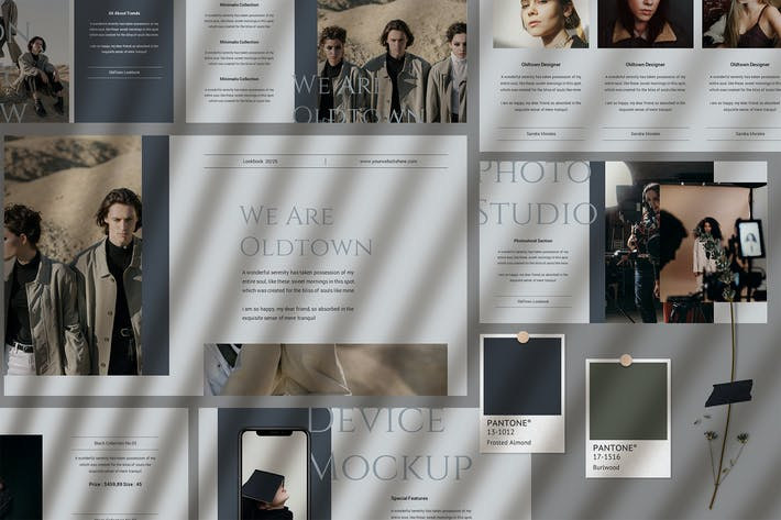 Oldtown - Шаблон Keynote Lookbook