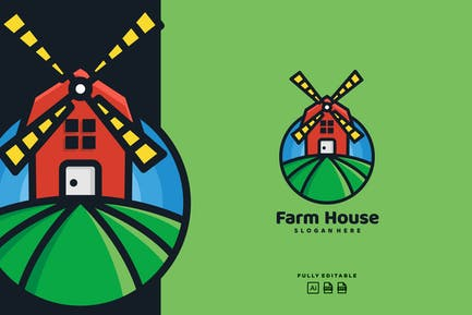 Farm House Wind Mill