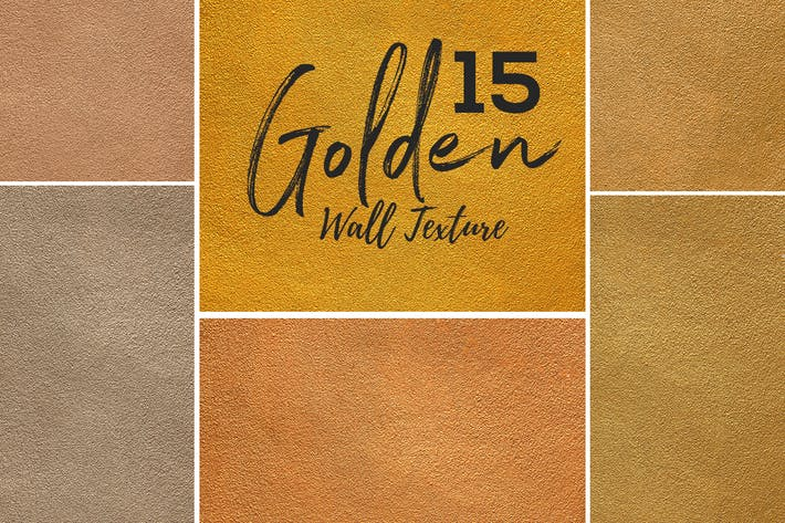 Cover Image For 15 Golden Wall Texture