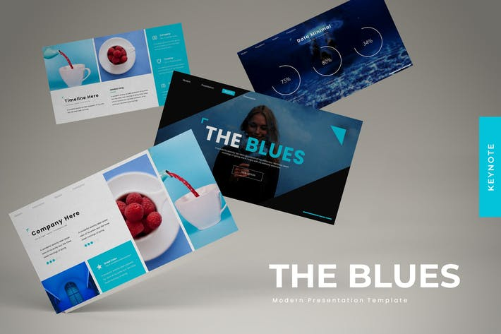 Thumbnail for The Blues - Keynote Template