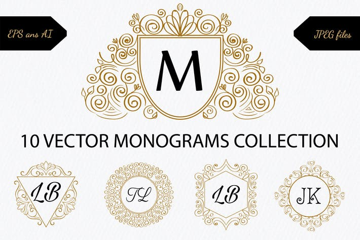 Thumbnail for 10 monograms collection