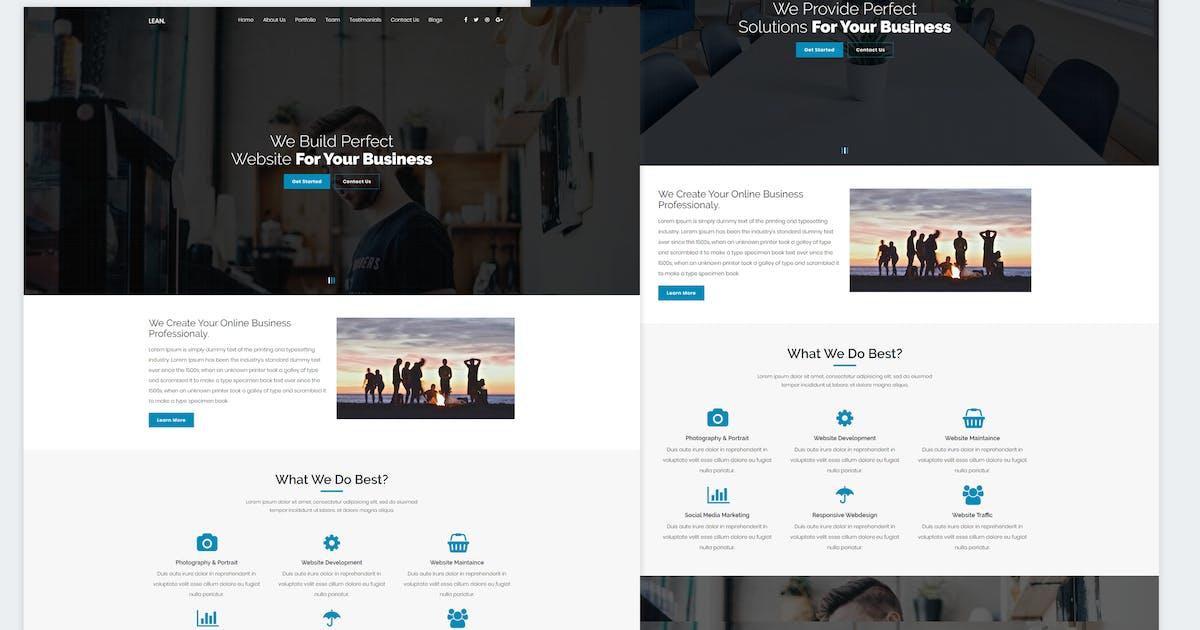 Download Lean - One Page Portfolio WordPress Theme by shtheme