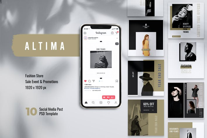 Thumbnail for ALTIMA Fashion Store Instagram & Facebook Post