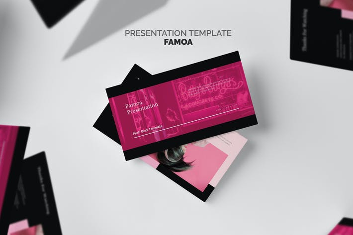Thumbnail for Famoa : Pink Color Tone Pitch Deck Keynote
