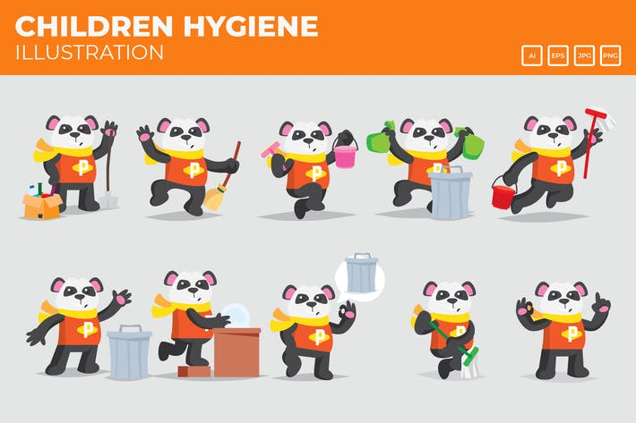 Thumbnail for Cleaning and Hygiene Panda campaign.