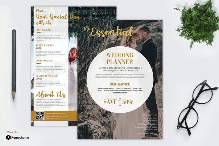 Thumbnail for Wedding Planner Flyer vol.02