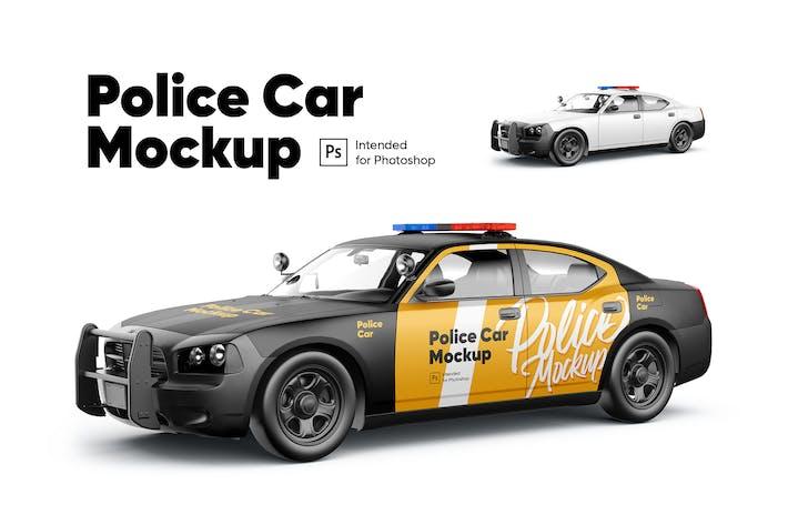 Cover Image For Police car Mockup