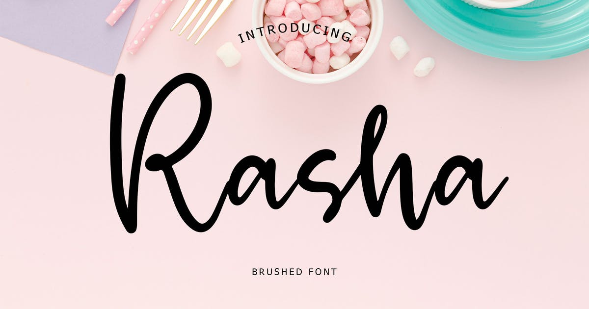Download Rasha Brush Font by Formatika