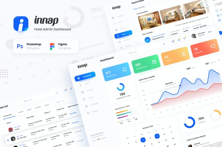 Thumbnail for Innap - Hotel Booking Dashboard