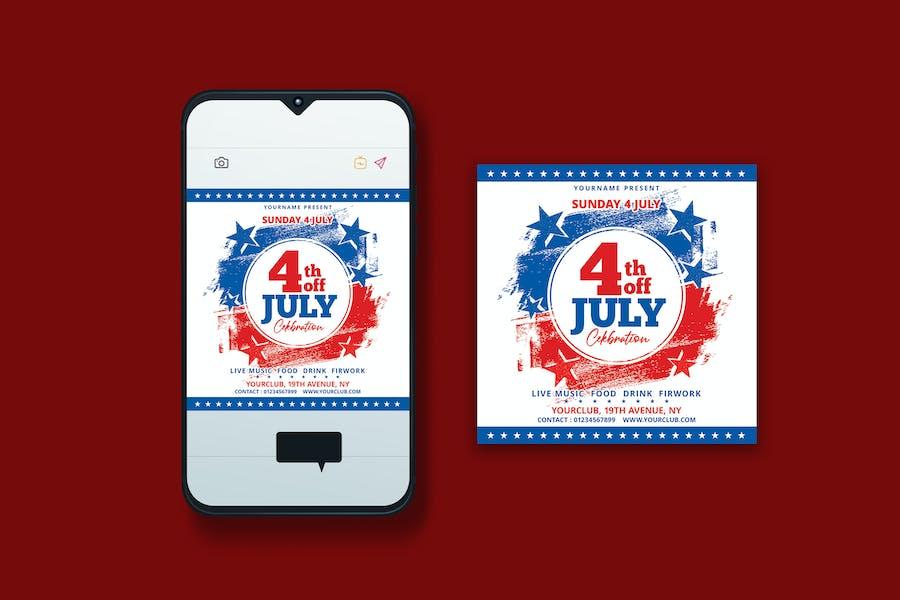 4th of July Instagram Post Design