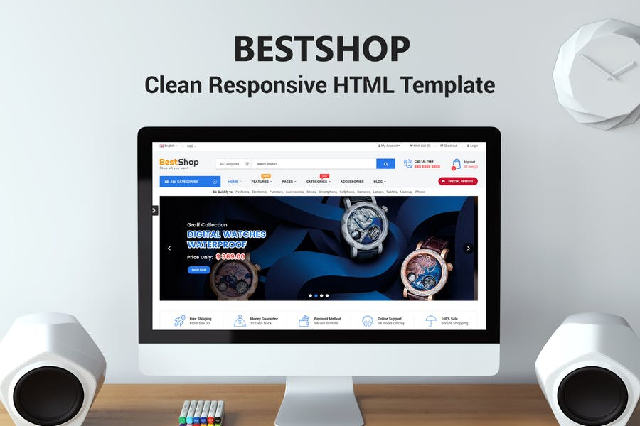 BestShop - HTML Template With Mobile Layouts