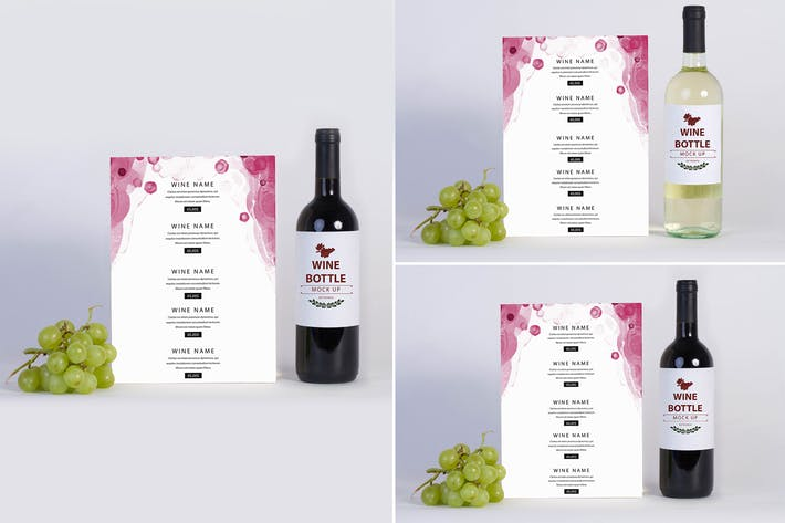 Thumbnail for Wine Menu Mock Up