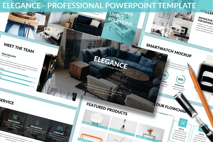 Thumbnail for Elegance - Professional Powerpoint Template