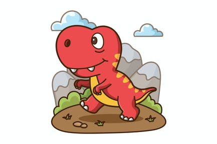 Cute T-Rex Cartoon
