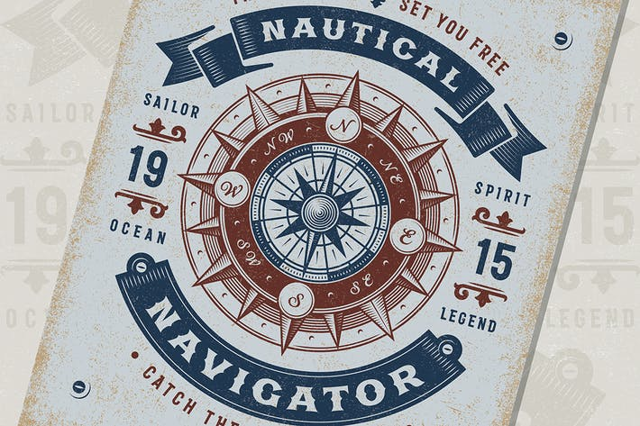 Thumbnail for Vintage Nautical Navigator Typography