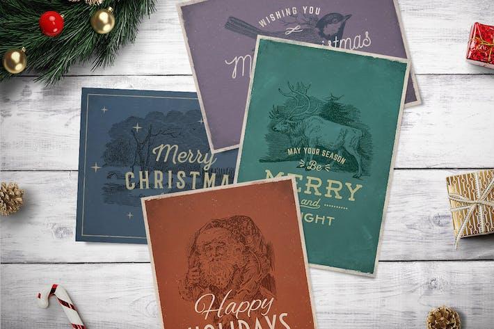 4 Vintage Christmas Cards vol. 2