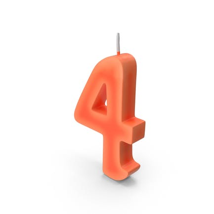 Number Four Candle