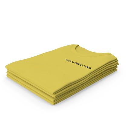 Female Crew Neck Folded Stacked Yellow Housekeeping