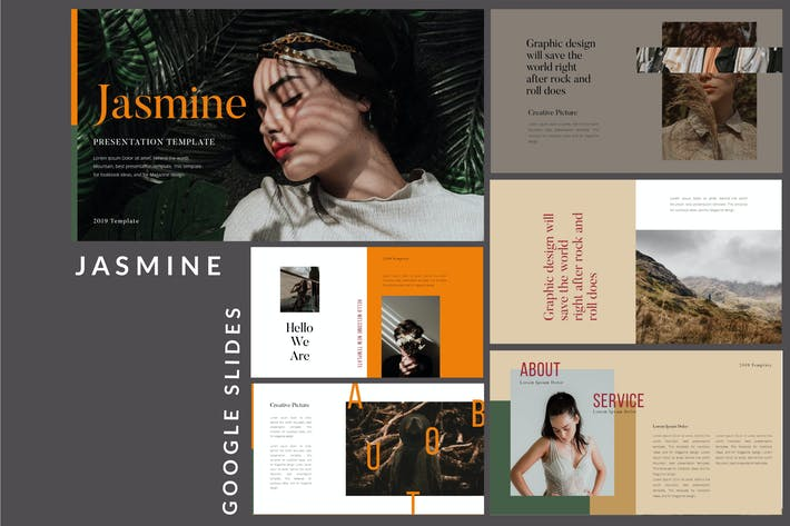 Thumbnail for Jasmine Lookbook - Fashion Google Slides