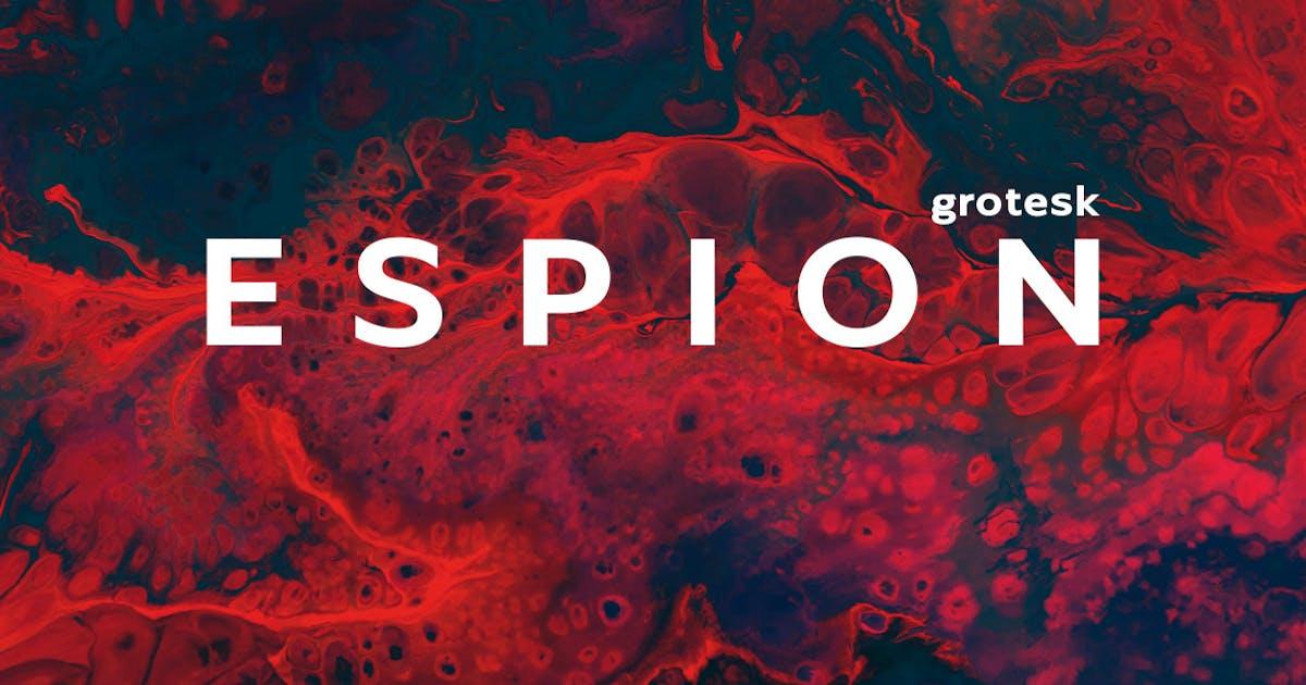 Download Espion Grotesk - Modern Display Typeface by designova