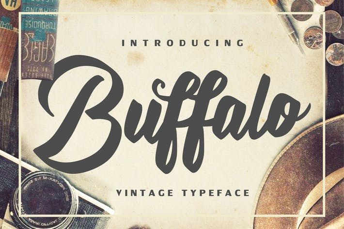 Thumbnail for Buffalo - Vintage Typeface