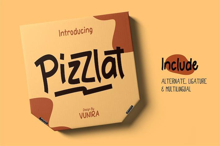Thumbnail for Pizzlat | Fancy Font