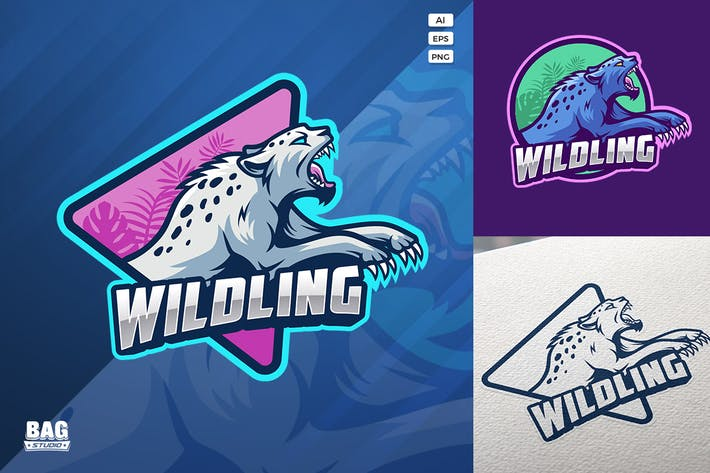 Wild Cat Esport Logo Template